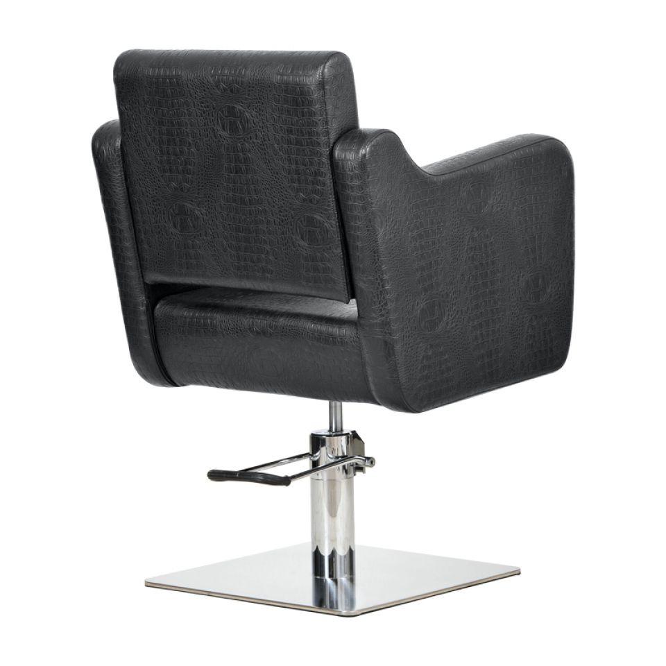 Lux fekete krokodil fodrász szék